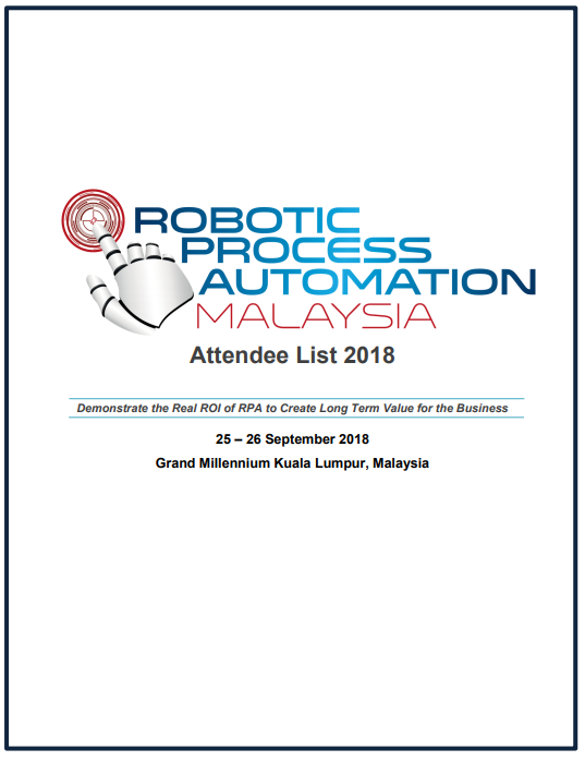 View RPA Malaysia 2018 - Attendee List