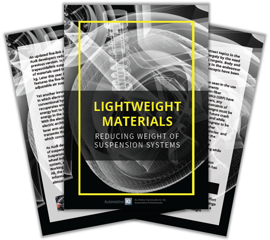 Article on the topic of weight reduction of suspension systems through lightweight materials