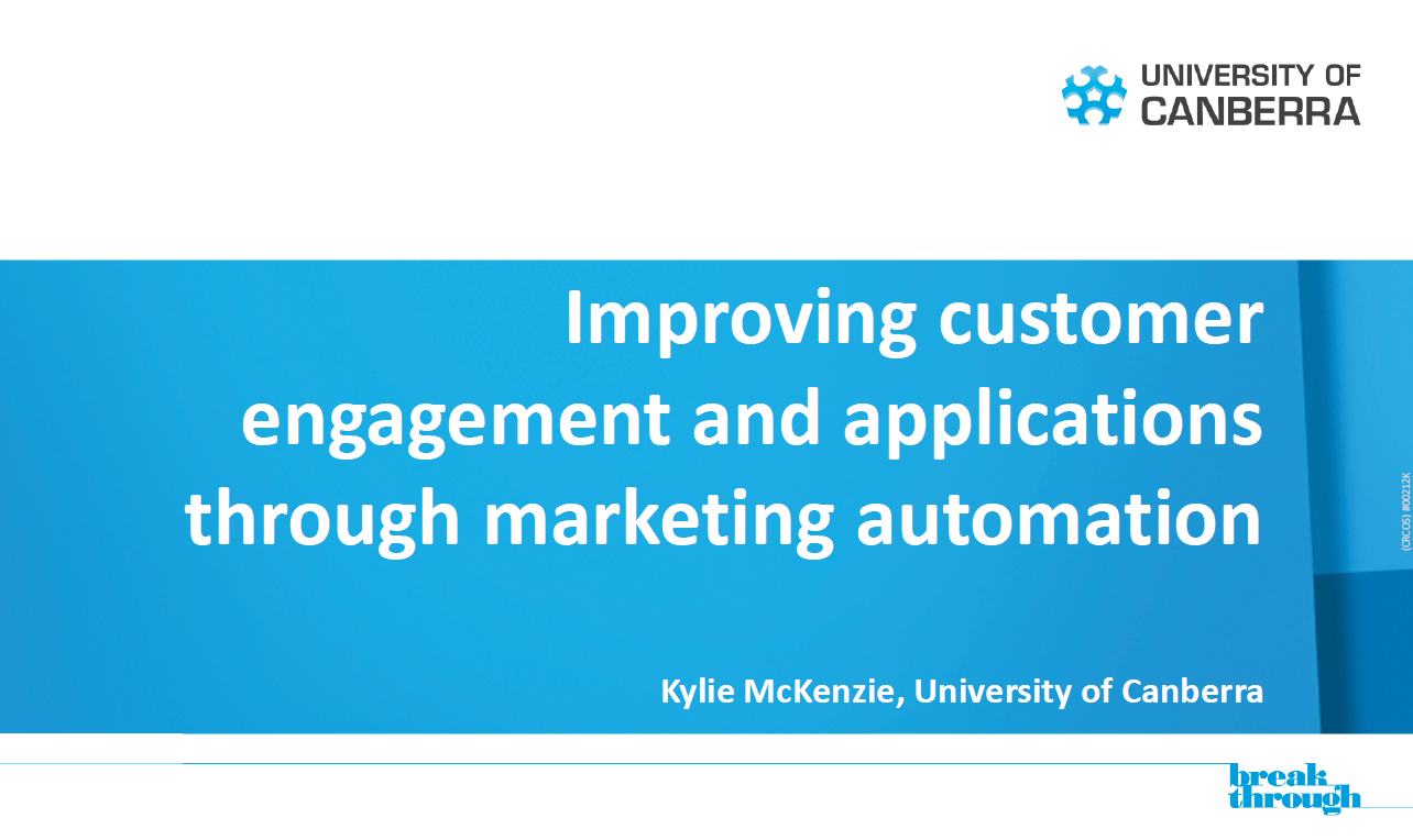 Improving Customer Engagement and Increasing Applications through Marketing Automation
