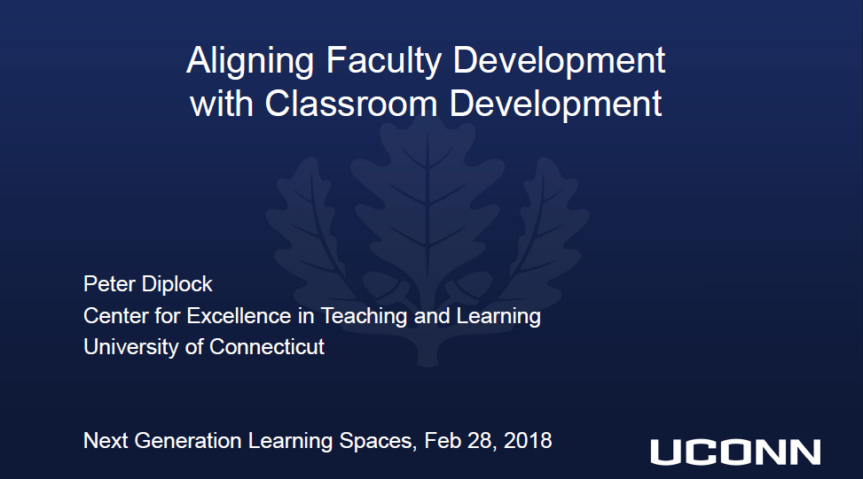 The Faculty Factor: Aligning Faculty Learning Space Development