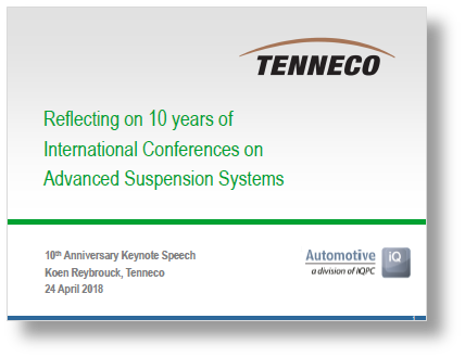 Presentation on the highlights of 10 years International Advanced Suspension Systems Conference