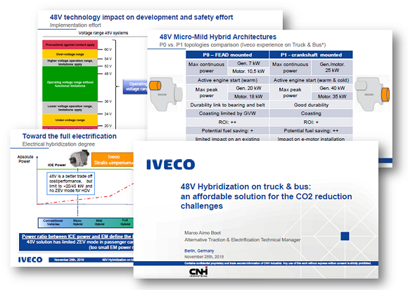 IVECO Presentation on 48V Hybridization on Tuck & Bus