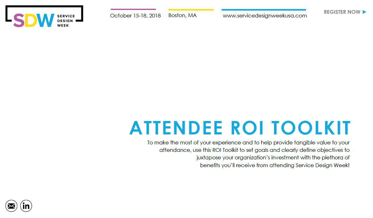 Service Design Week ROI Toolkit