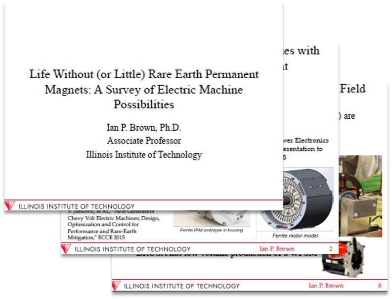 Illinois Institute of Technology: Life Without (or Little) Rare Earth Permanent Magnets: A Survey of Electric Machine Possibilities