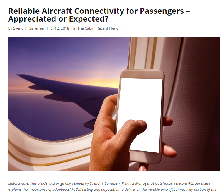 Reliable Aircraft Connectivity for Passengers – Appreciated or Expected?