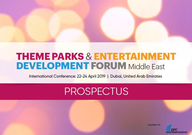 Sponsorship Prospectus - 5th Theme Parks and Entertainment Development Forum