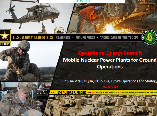 Mobile Nuclear Power Plants for Ground Operations