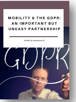 Mobility and the GDPR: An important but uneasy partnership