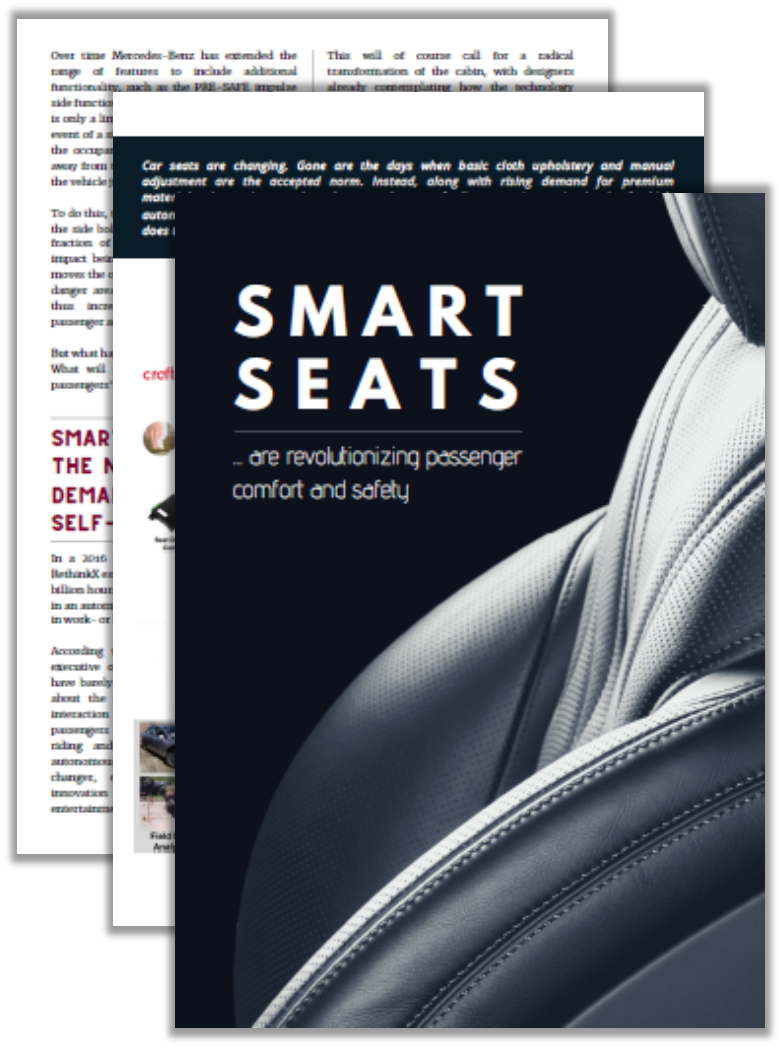 Automotive IQ Article: Smart Seats Revolutionizing Passenger Comfort and Safety