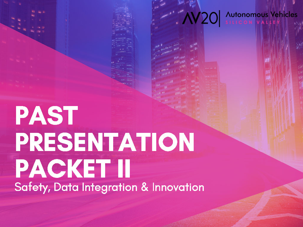 2019 Past Presentation Packet II: Safety, Data Integration & Innovation