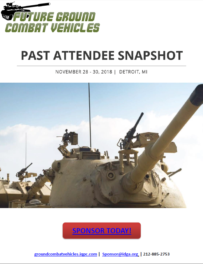 Future Ground Combat Vehicles Attendee Snapshot