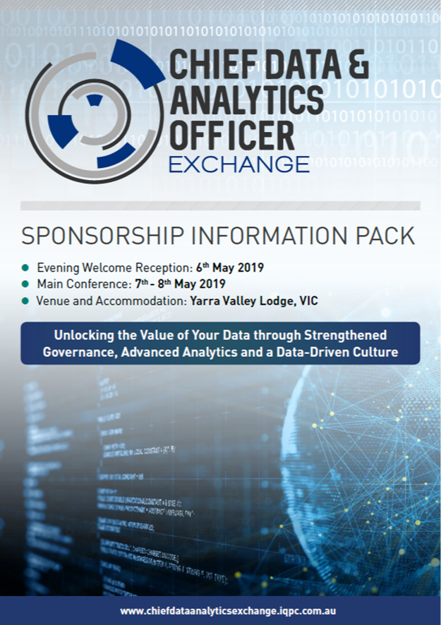 Chief Data & Analytics Officer Exchange 2019 - Sponsorship Information Pack