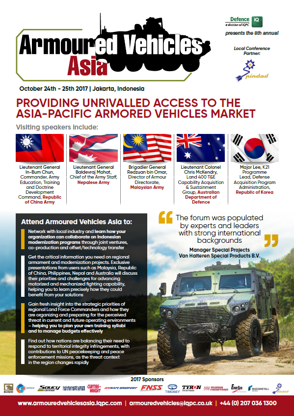 Armoured Vehicles Asia 2017 Brochure