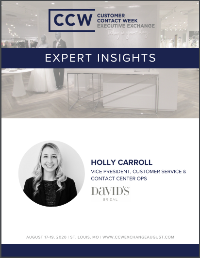 Expert Insights | Holly Carroll, Vice President, Customer Service & Contact Center Ops