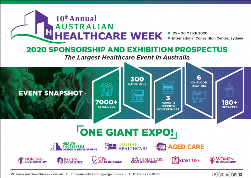 Australian Healthcare Week 2021 Sponsorship and Exhibition Prospectus