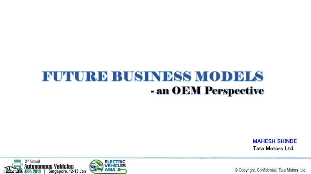 Read the Past Presentation - Future Business Models: An OEM Perspective