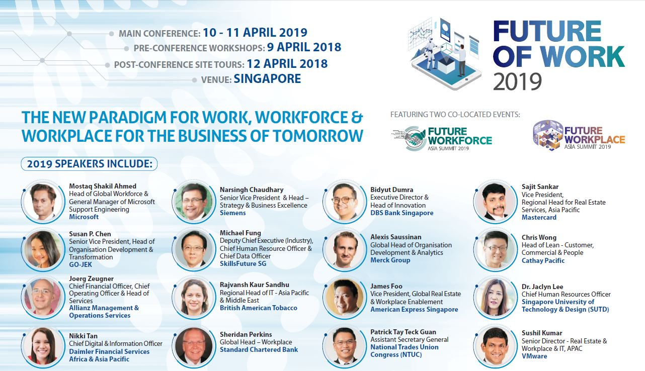 Read the Future of Work Asia 2019 Full Programme
