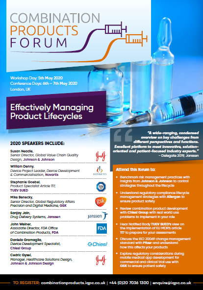 Download the Agenda l Combination Products Forum