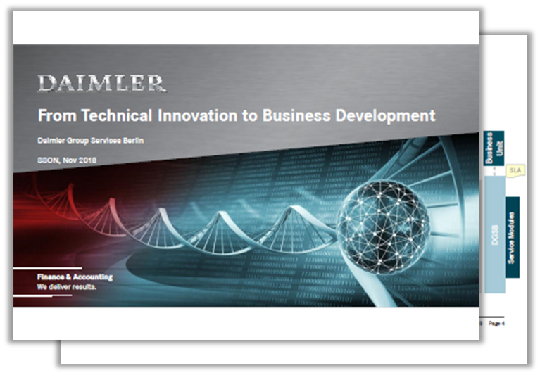 Daimler Past Presentation: From Technical Innovation to Business Development