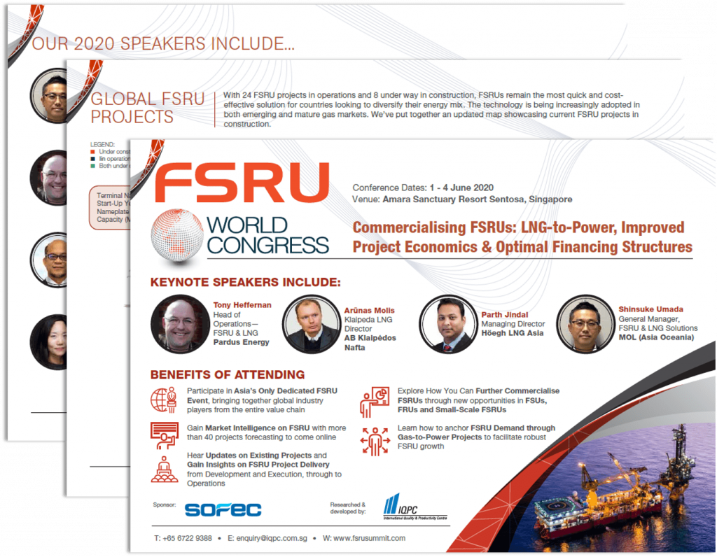 View the full event outline for FSRU World Congress 2020