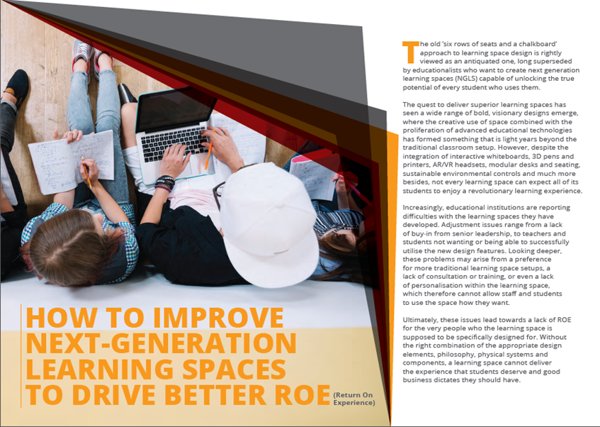 Download Your Free Report - How To Improve Next-Generation Learning Spaces To Drive Better Roe