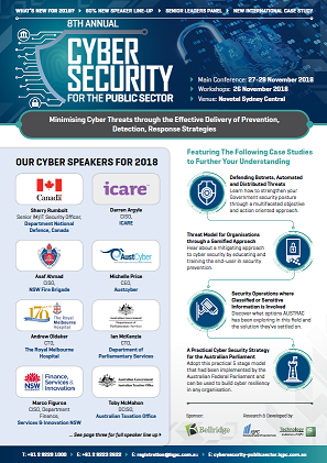 Cyber Security for Public Sector - 2018 full event guide