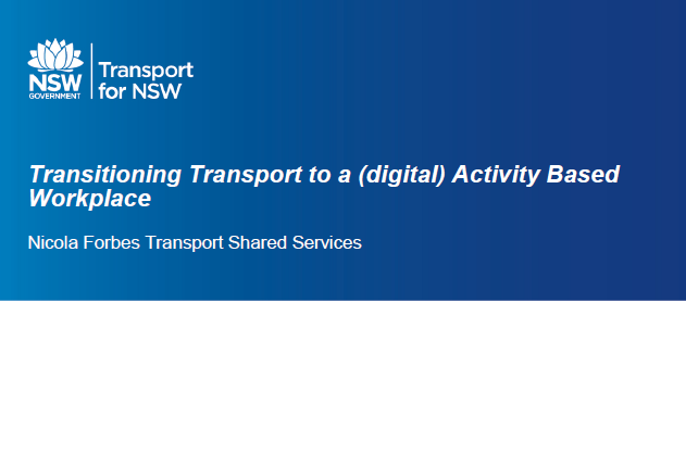 Transitioning Shared Services to a Digital Activity Base Workplace