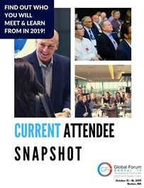 Current Attendee Snapshot: 2019 CCGF