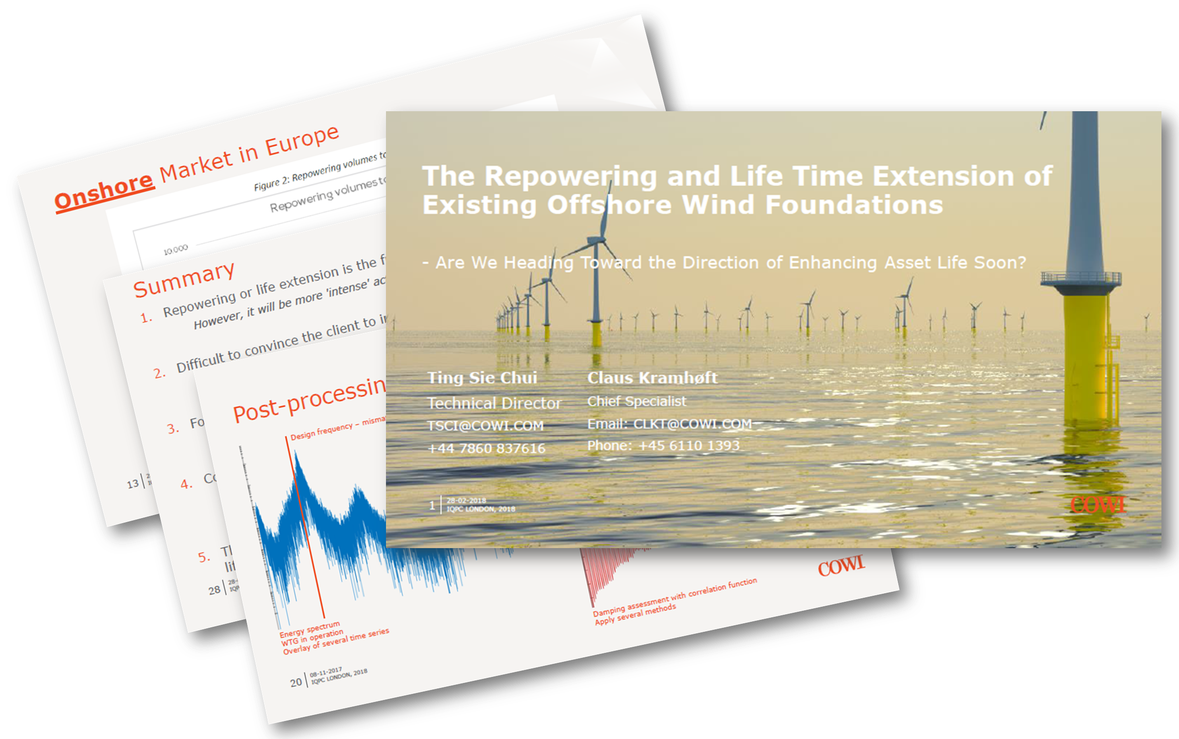 COWI Presentation - Repowering and life extension of existing UK offshore wind foundations