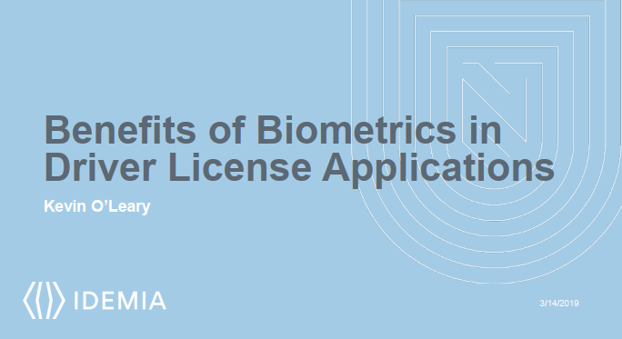The Benefits Of Biometrics Applications In Drivers License Issuance