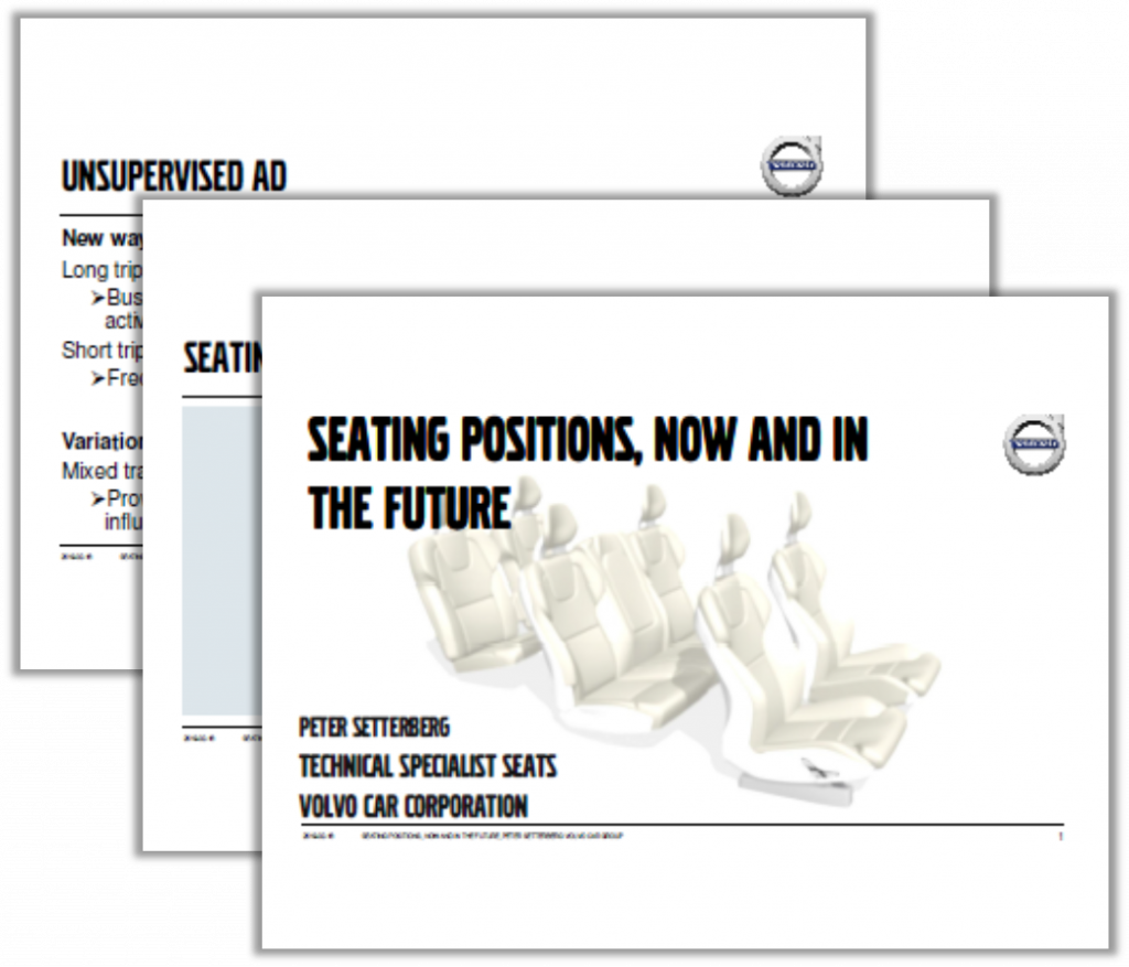 Volvo Presentation on Seating Positions