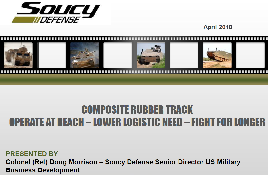 Review of The Composite Rubber Track (CRT) Technology for Armoured Fighting Vehicles