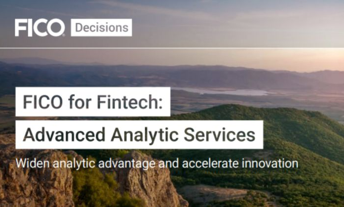 FICO for Fintech: Advanced Analytic Services (Executive Brief)