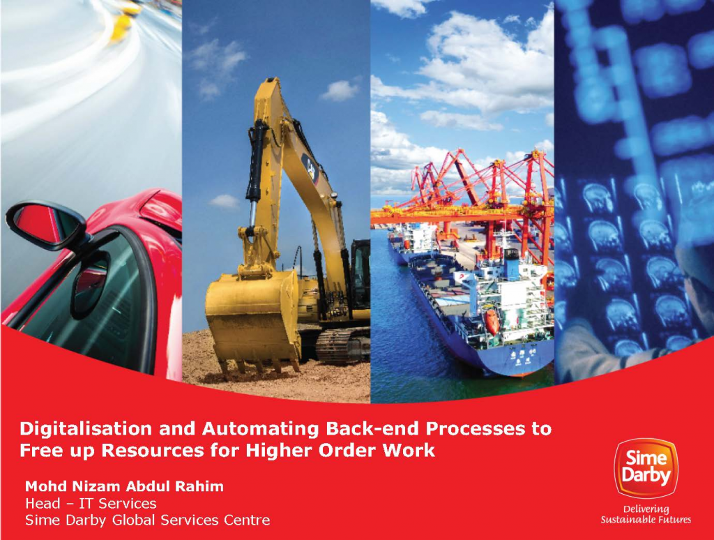 Read the Past Presentation - Digitalisation and Automating Back-end Processes to Free up Resources for Higher Order Work