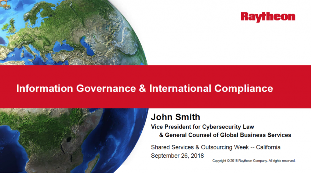 Information Governance & International Compliance