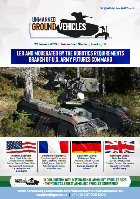 Unmanned Ground Vehicles Agenda
