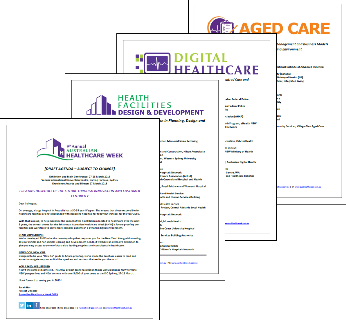 View your Conference Guide - 9th Annual Australian Healthcare Week 2019 [Sponsorship]