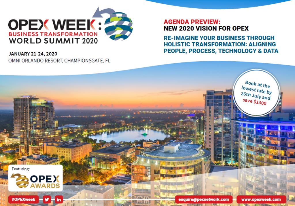 OPEX Orlando 2020 - spex - Preliminary Agenda