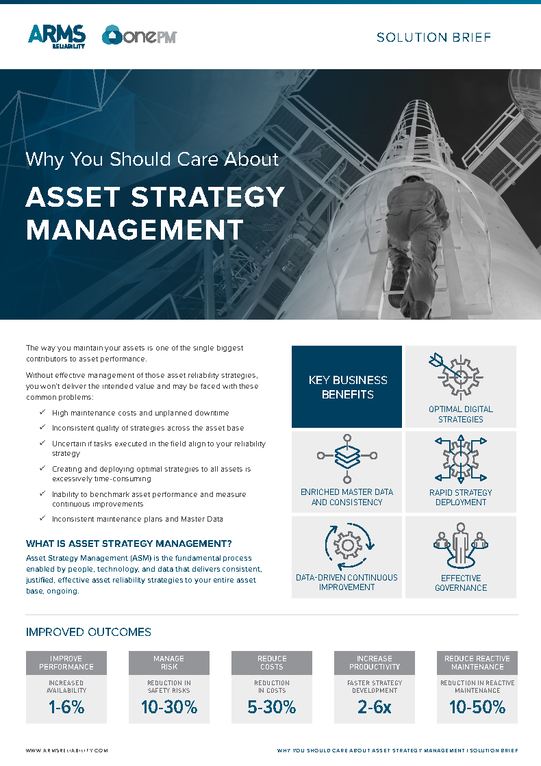 Why You Should Care About Asset Strategy Management