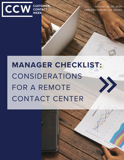Manager Checklist: Considerations for a Remote Contact Center