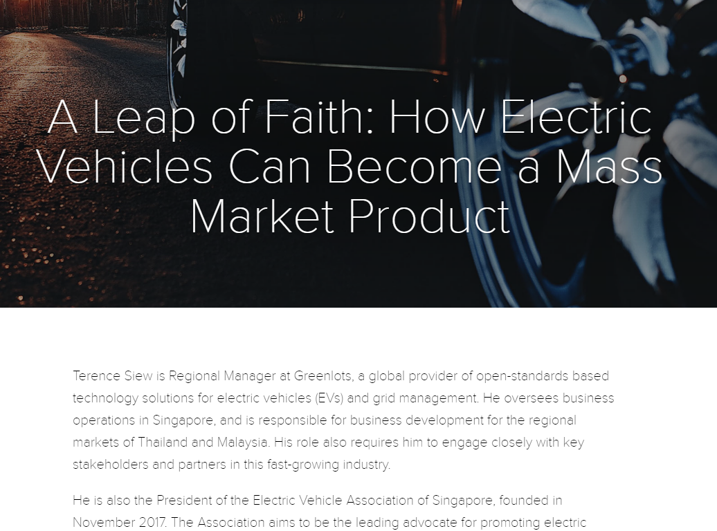 How Electric Vehicles Can Become a Mass Market Product