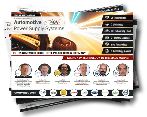 Conference Agenda - 6th International Conference Automotive 48V Power Supply Systems
