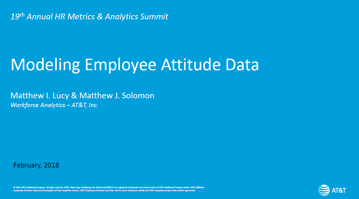 Case Study: How AT&T Uses Predictive Analytics to Understand the Drivers of Employee Engagement