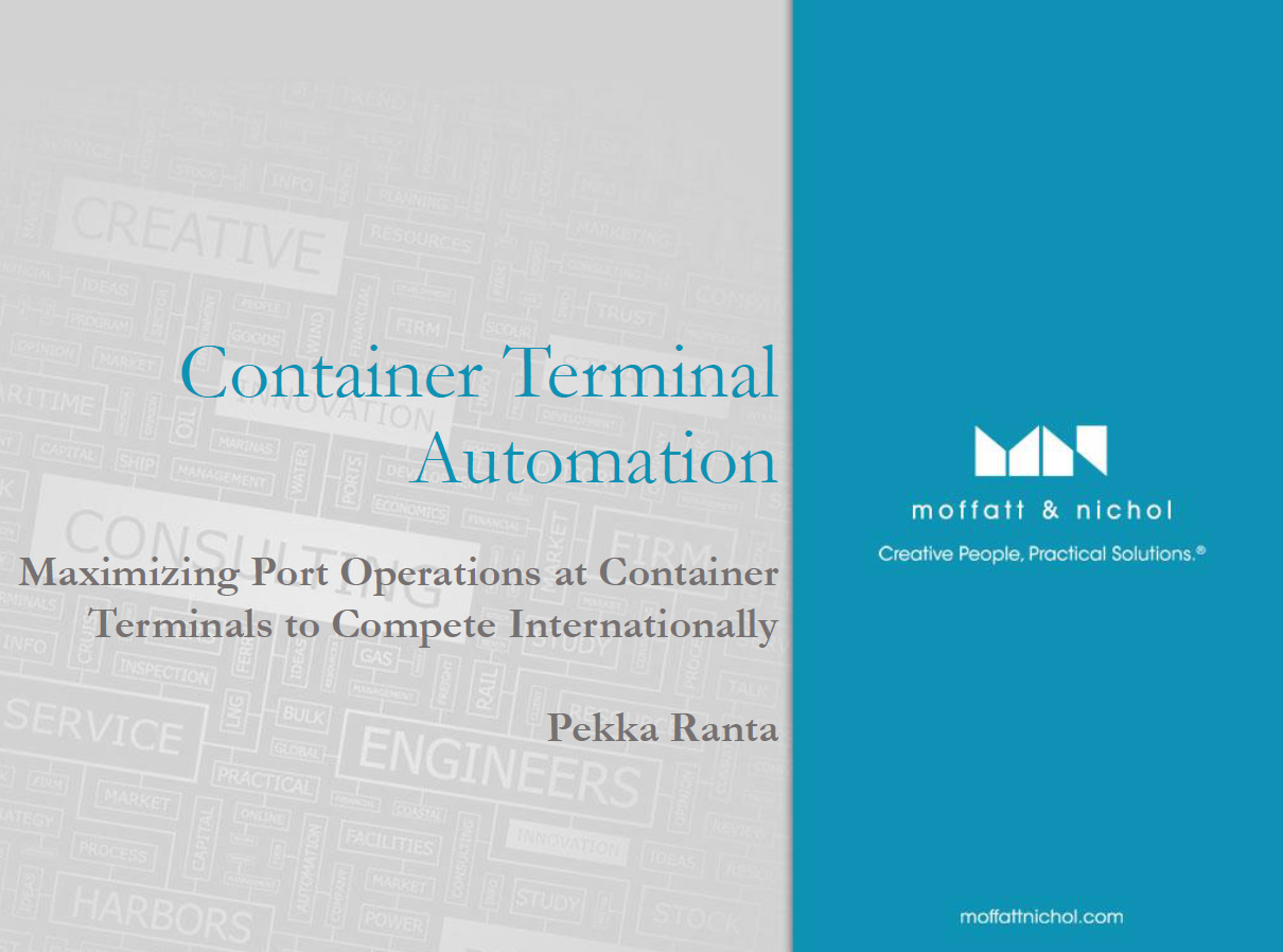 Maximizing Port Operations at Container Terminals to Compete Internationally