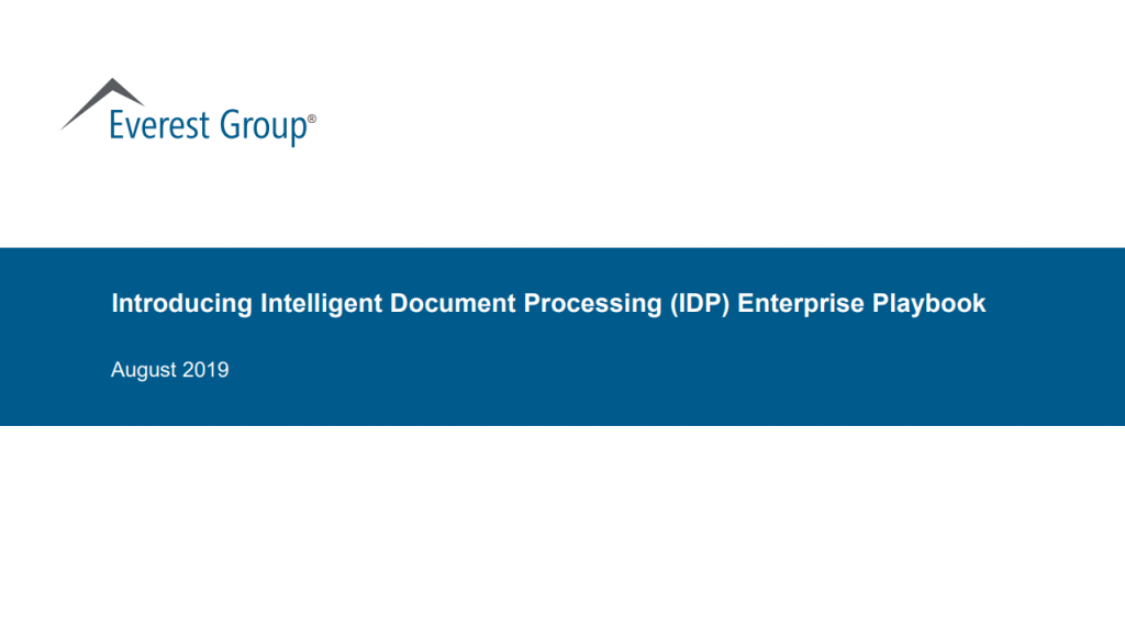Introducing Intelligent Document Processing (IDP)