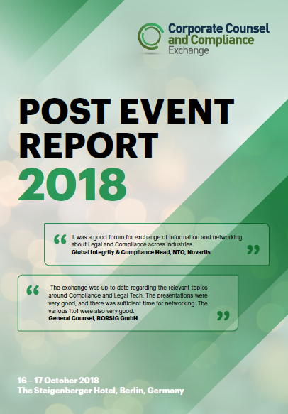 Corporate Counsel & Compliance Exchange 2018 - Post-Event Report