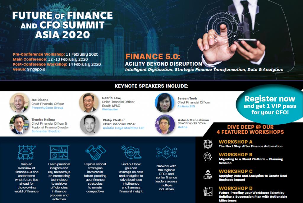 2020 Future of Finance and CFO Asia Summit - Agenda