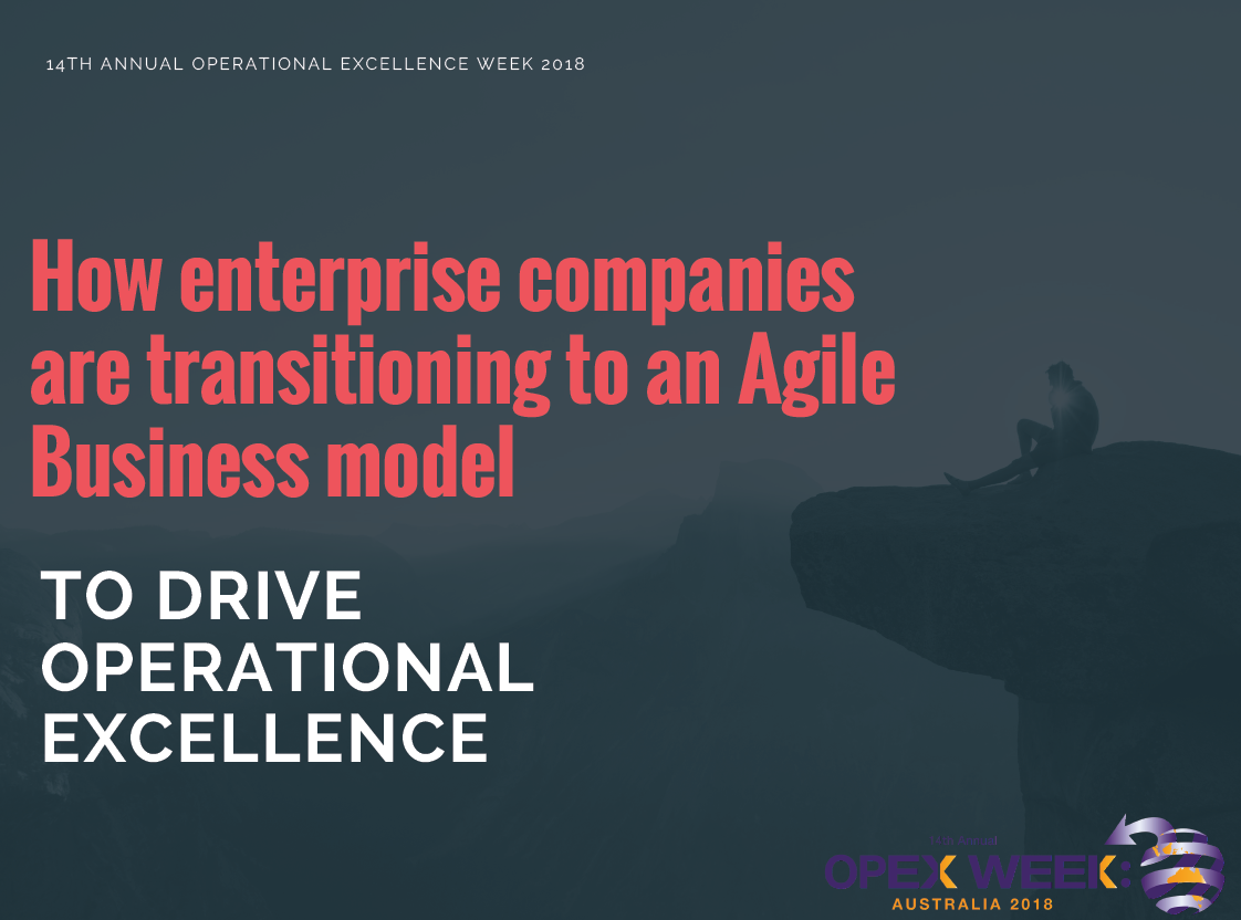 How enterprise companies are transitioning to an Agile Business model to drive operational excellence – a personal journey