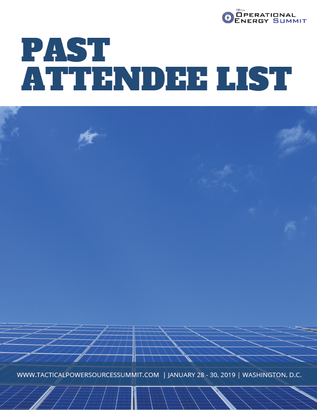 Operational Energy Past Attendee List