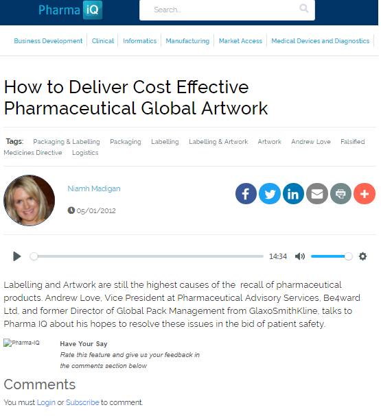 How to Deliver Cost Effective Pharmaceutical Global Artwork